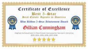 Gillian Cunningham Certificate of Excellence McKinney TX