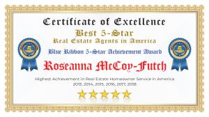 Roseanna McCoy-Futch Certificate of Excellence San Lorenzo CA