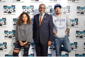 Dr Pinkard with DJ Envy and Angela Yee from The Breakfast Club