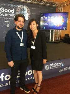 Yang Zhang and Dimos Makris at AI For Good Summit(4)