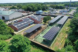 The Completed SUNation Solar Installation at Southold Animal Shelter