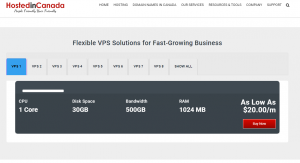 VPS pricing plans in Canada