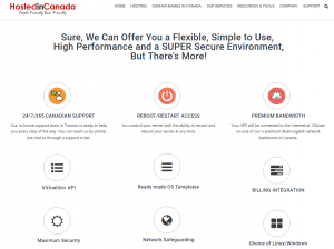 Canadian VPS hosting plan core components