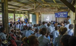 Although the Universal Declaration of Human Rights was adopted 70 years ago, it meant little to the youth in this village in the Solomon Islands until now.