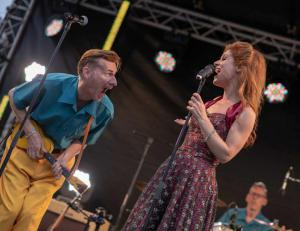 The Jive Aces were joined by West End diva Cassidy Janson.