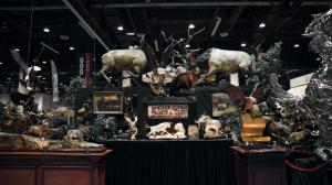 trade show booth of treasure investments corp and foundry michelangelo 40 foot by 40 foot booth at Safari Club International National Convention in Reno 2020